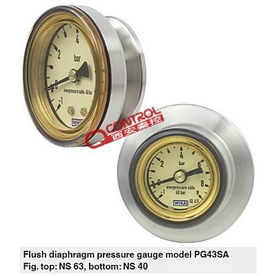 wika卫生型压力表 PG43SA-C威
